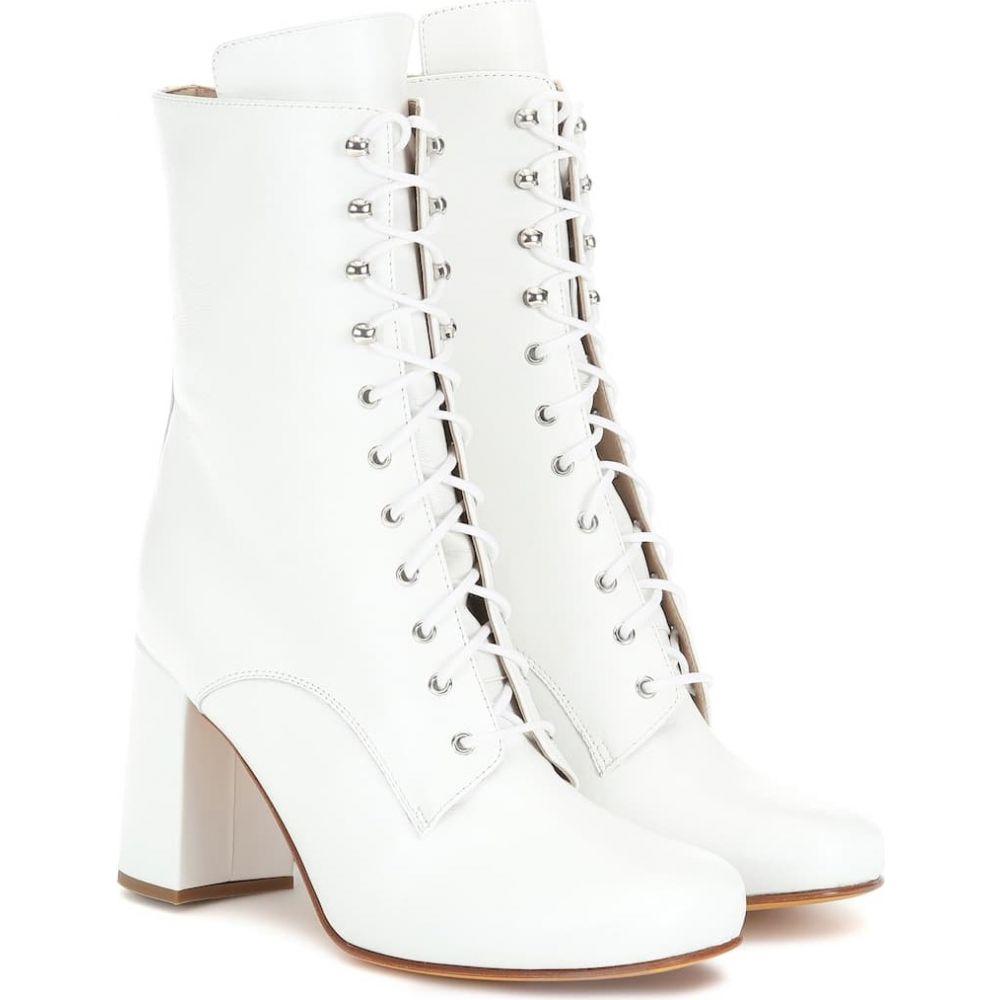 マリアム ナッシアー ザデー Maryam Nassir Zadeh レディース ブーツ ショートブーツ シューズ・靴【emmanuelle leather ankle boots】white