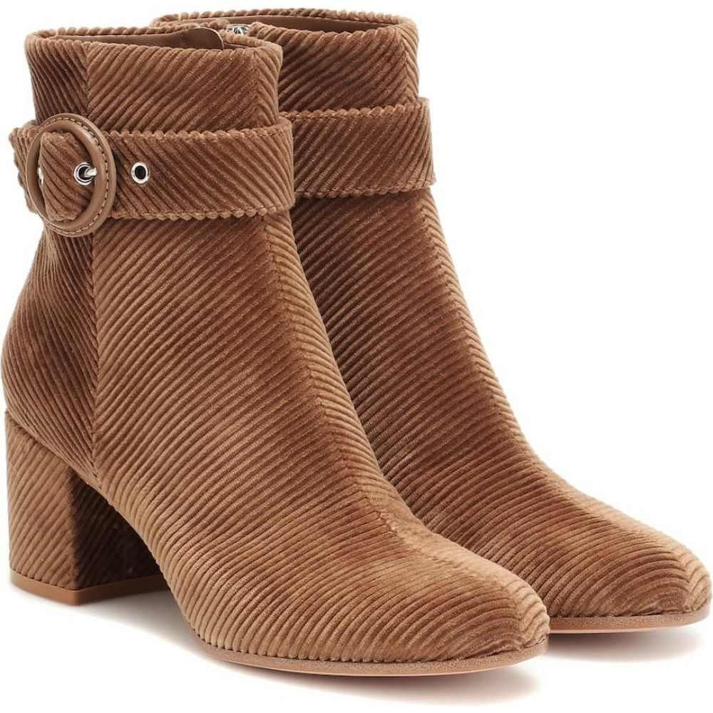 ジャンヴィト ロッシ Gianvito Rossi レディース ブーツ ショートブーツ シューズ・靴【lucas corduroy ankle boots】camel/camel
