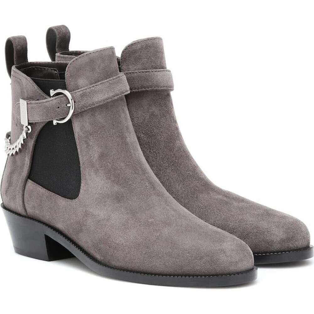 サルヴァトーレ フェラガモ Salvatore Ferragamo レディース ブーツ ショートブーツ シューズ・靴【gancini suede ankle boots】Flannel