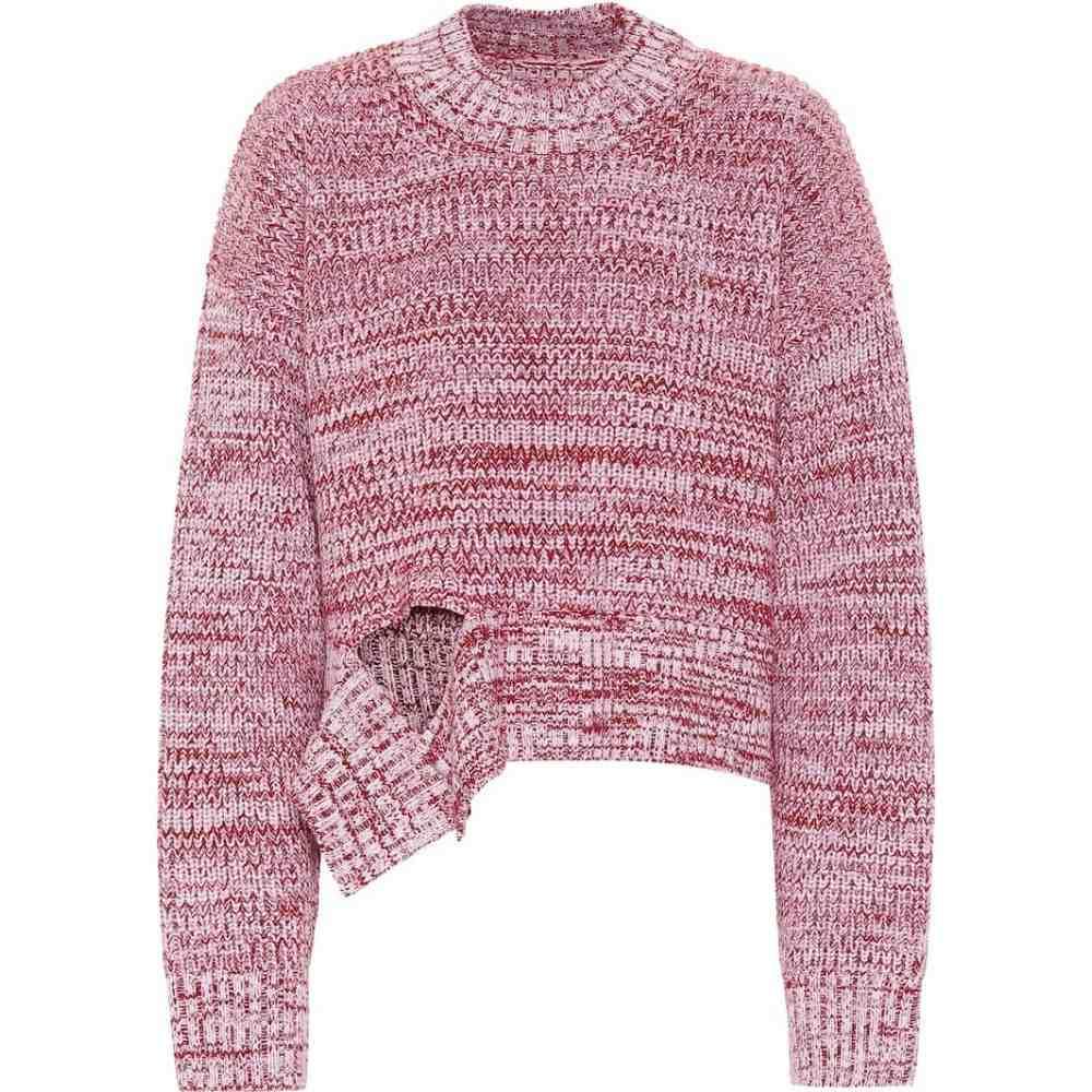 メゾン マルジェラ Maison Margiela レディース ニット・セーター トップス【wool sweater】White/Red