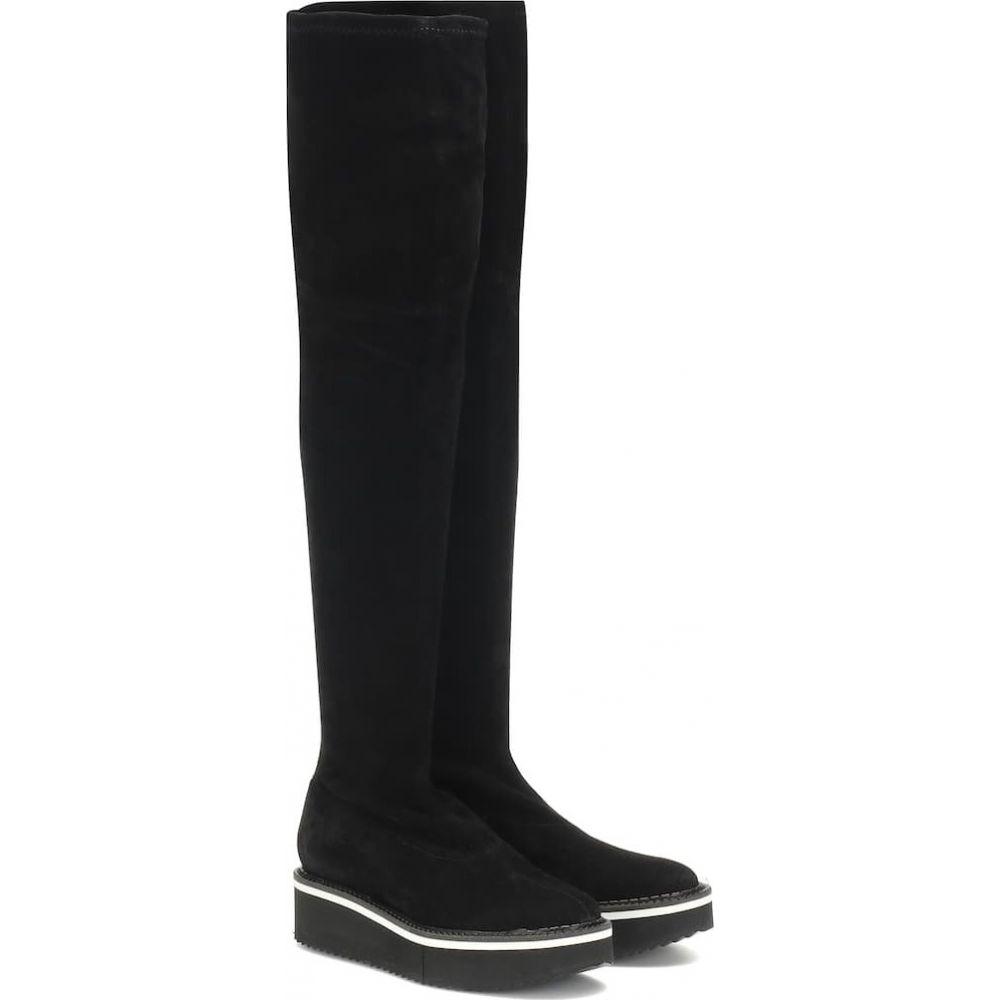 ロベール クレジュリー Clergerie レディース ブーツ シューズ・靴【bella stretch suede boots】Black