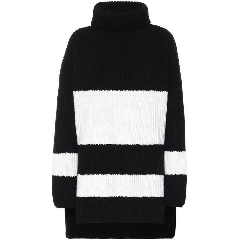 ジョゼフ Joseph レディース ニット・セーター トップス【roll-neck wool sweater】Black/Cream