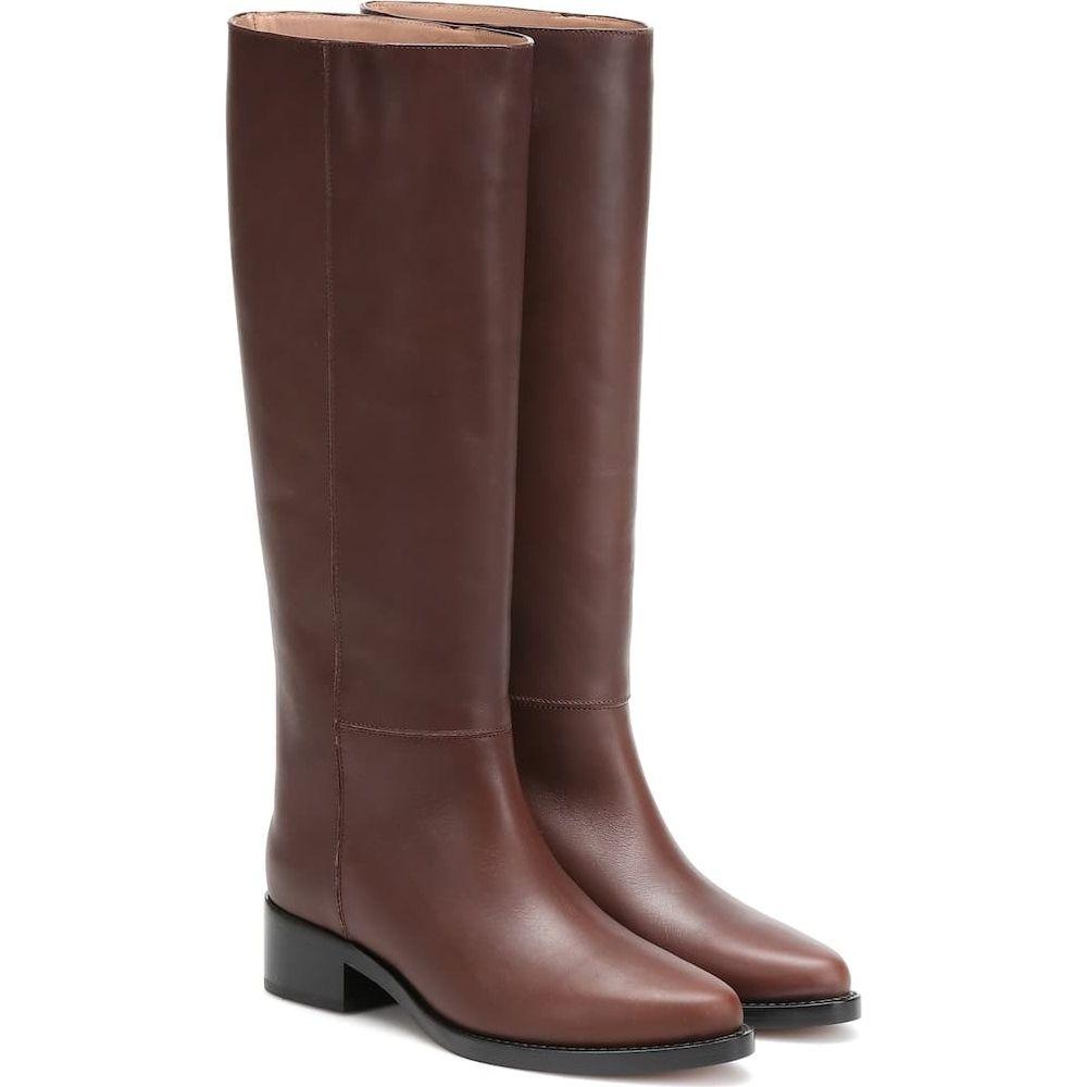 レグレス Legres レディース ブーツ シューズ・靴【leather knee-high boots】Dark Brown