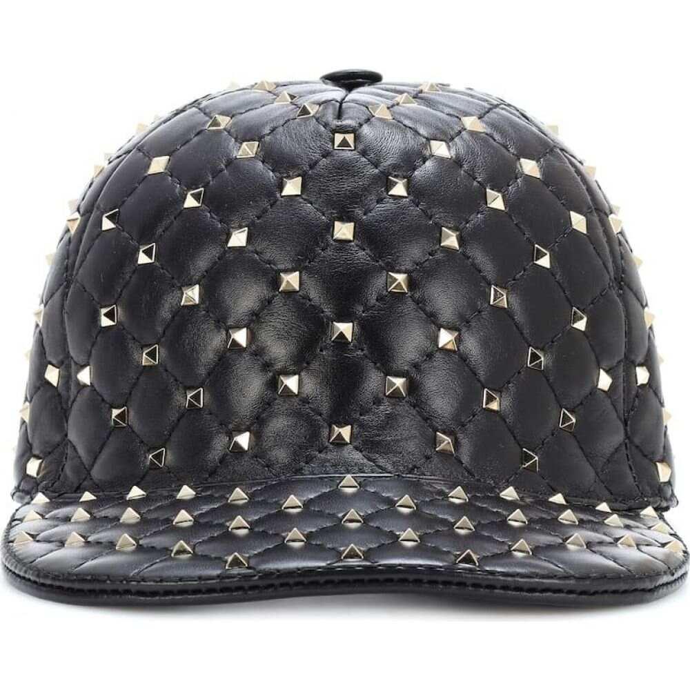 ヴァレンティノ Valentino レディース キャップ 帽子【garavani rockstud spike leather cap】Black