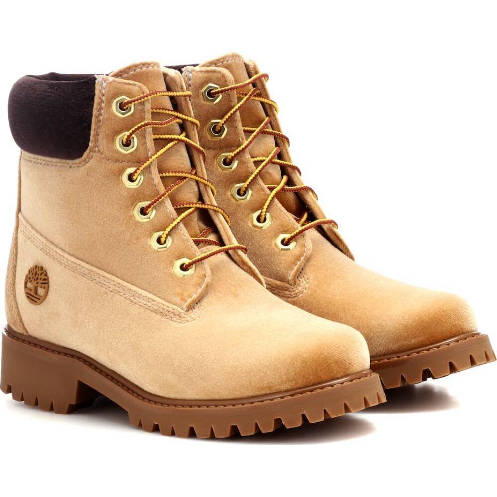 オフホワイト Off-White レディース ブーツ ショートブーツ シューズ・靴【x timberland velvet ankle boots】Camel No Co
