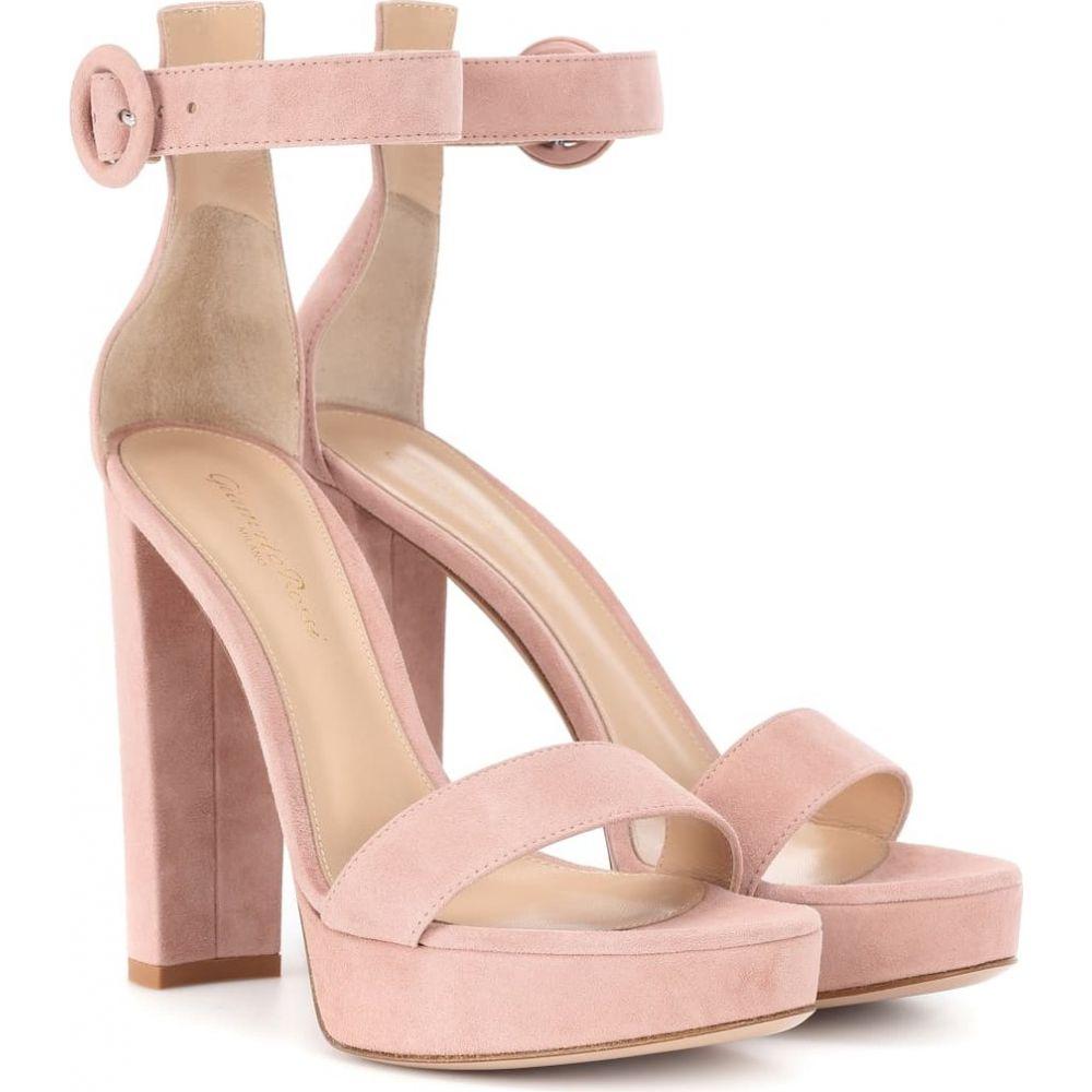ジャンヴィト ロッシ Gianvito Rossi レディース サンダル・ミュール シューズ・靴【portofino 130 suede plateau sandals】Dahlia