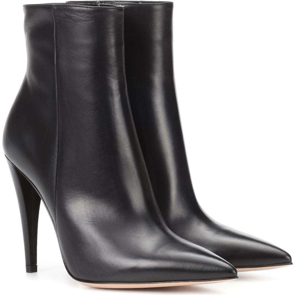 ジャンヴィト ロッシ Gianvito Rossi レディース ブーツ ショートブーツ シューズ・靴【leather ankle boots】Black