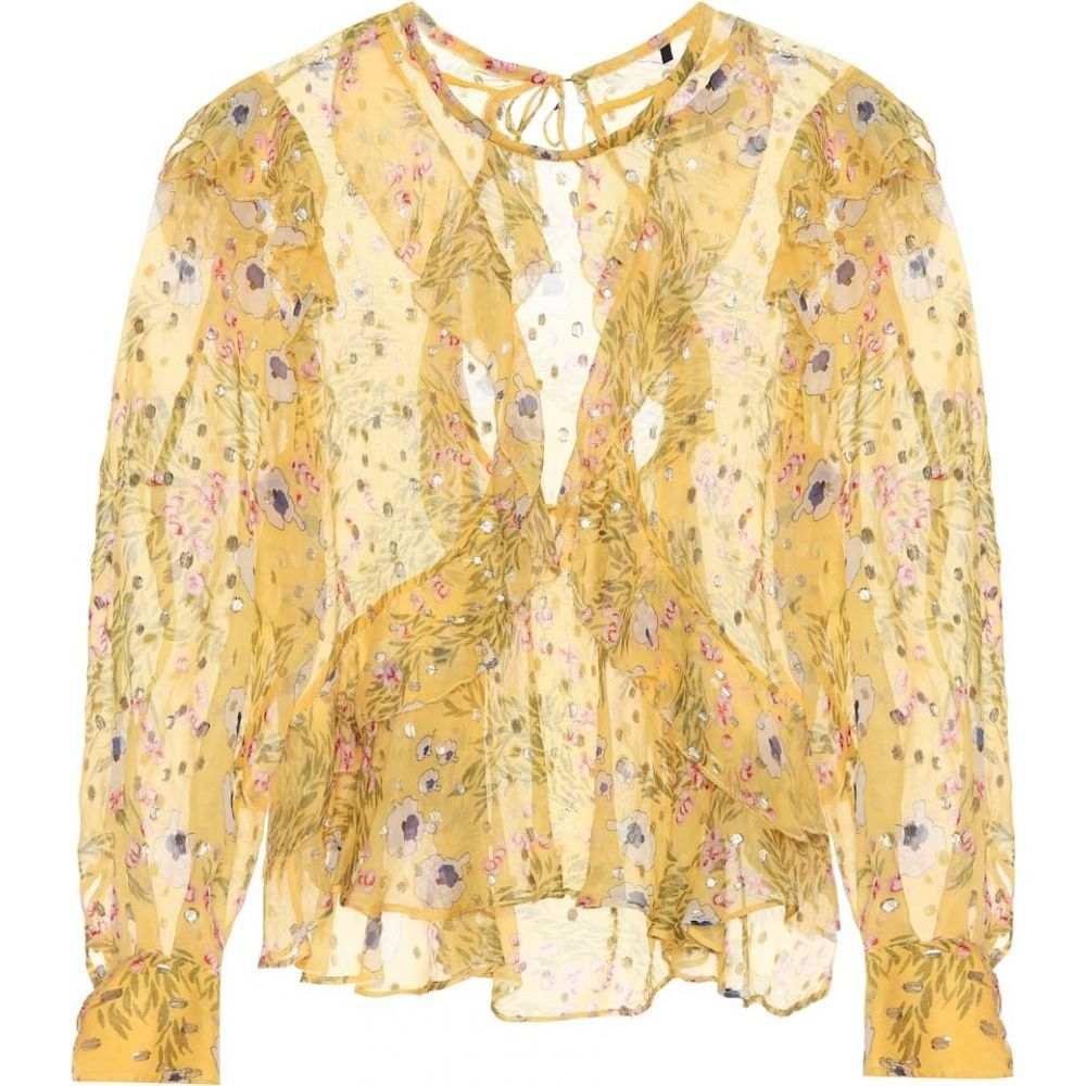 イザベル マラン Isabel Marant レディース ブラウス・シャツ トップス【muster floral silk-blend blouse】Yellow
