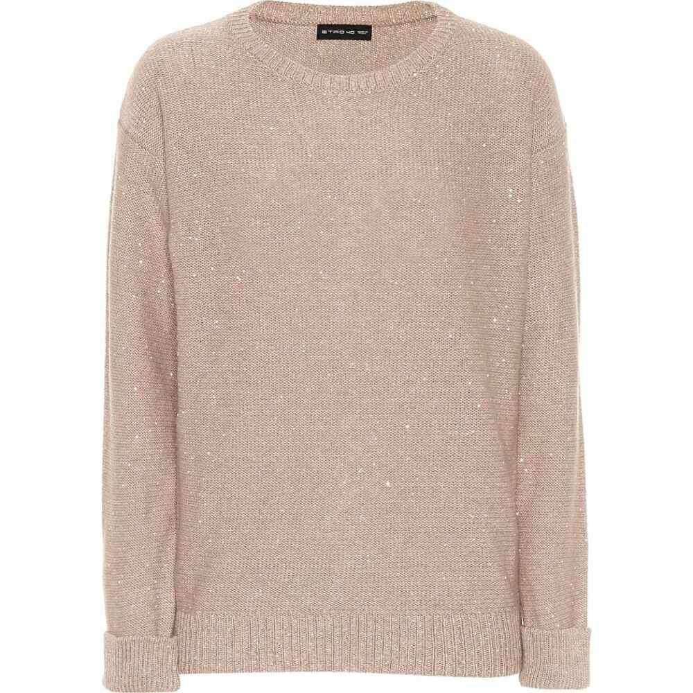 エトロ Etro レディース ニット・セーター トップス【sequinned wool-blend sweater】