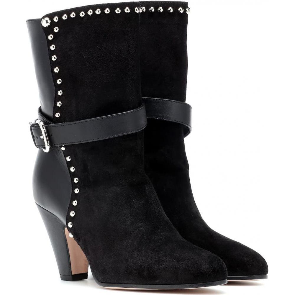 レッド ヴァレンティノ REDValentino レディース ブーツ ショートブーツ シューズ・靴【red (v) embellished suede ankle boots】Nero