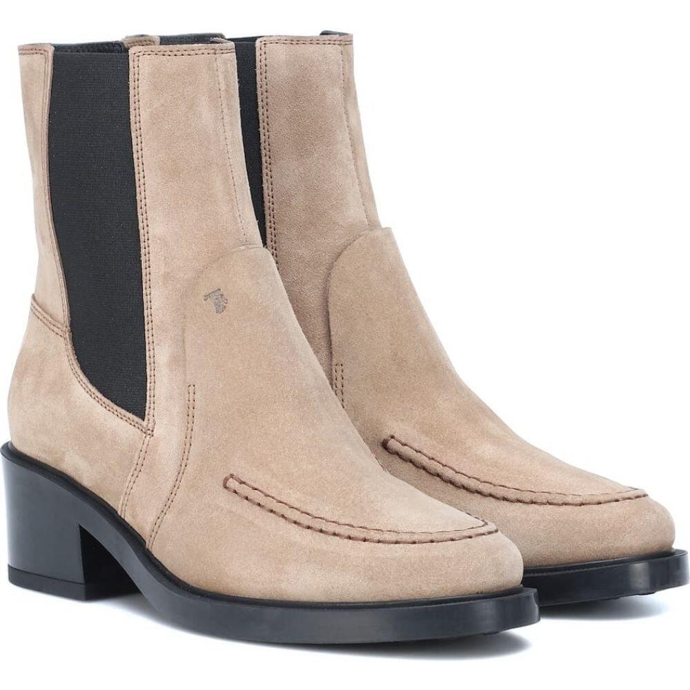 トッズ Tod's レディース ブーツ ショートブーツ シューズ・靴【suede ankle boots】Tabacco Ciaro