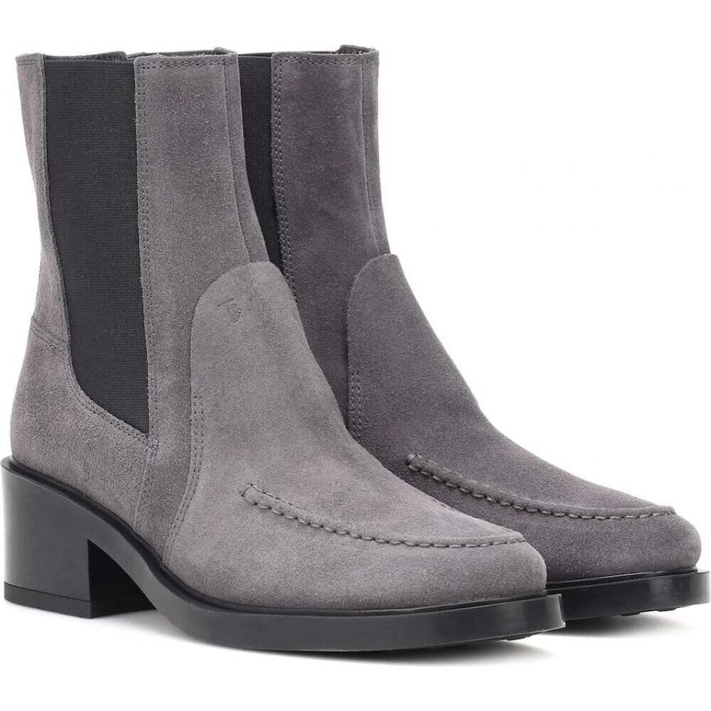 トッズ Tod's レディース ブーツ ショートブーツ シューズ・靴【suede ankle boots】Black