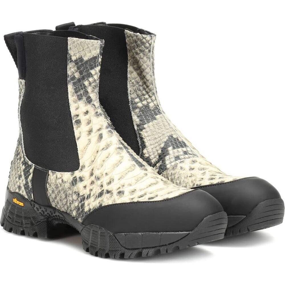 アリクス 1017 ALYX 9SM レディース ブーツ チェルシーブーツ シューズ・靴【vibram leather chelsea boots】Black/Cream