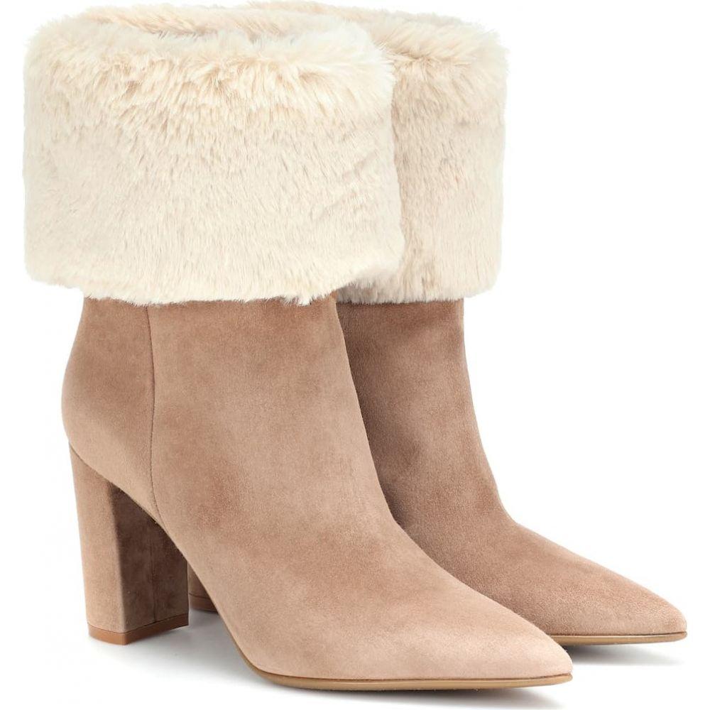 ジャンヴィト ロッシ Gianvito Rossi レディース ブーツ ショートブーツ シューズ・靴【joanne suede ankle boots】Camel Natural