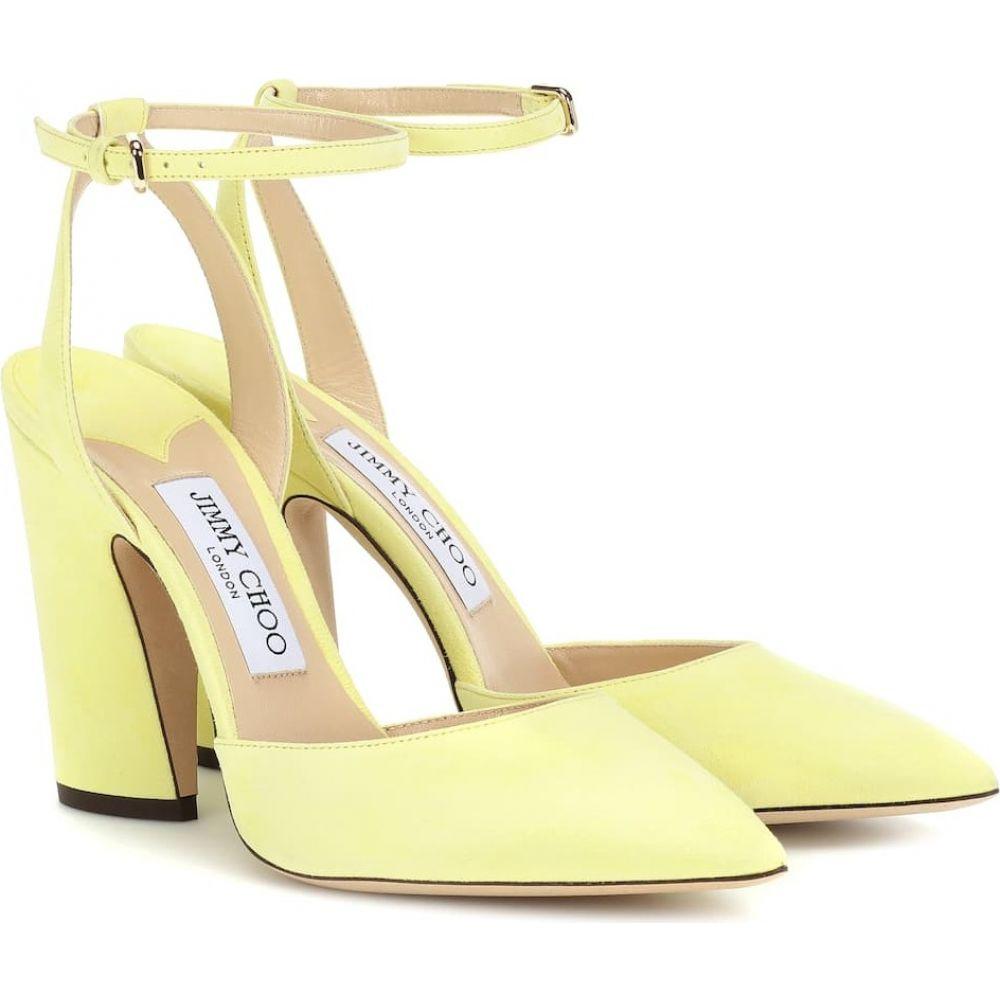 ジミー チュウ Jimmy Choo レディース パンプス シューズ・靴【micky 100 suede pumps】pale yellow