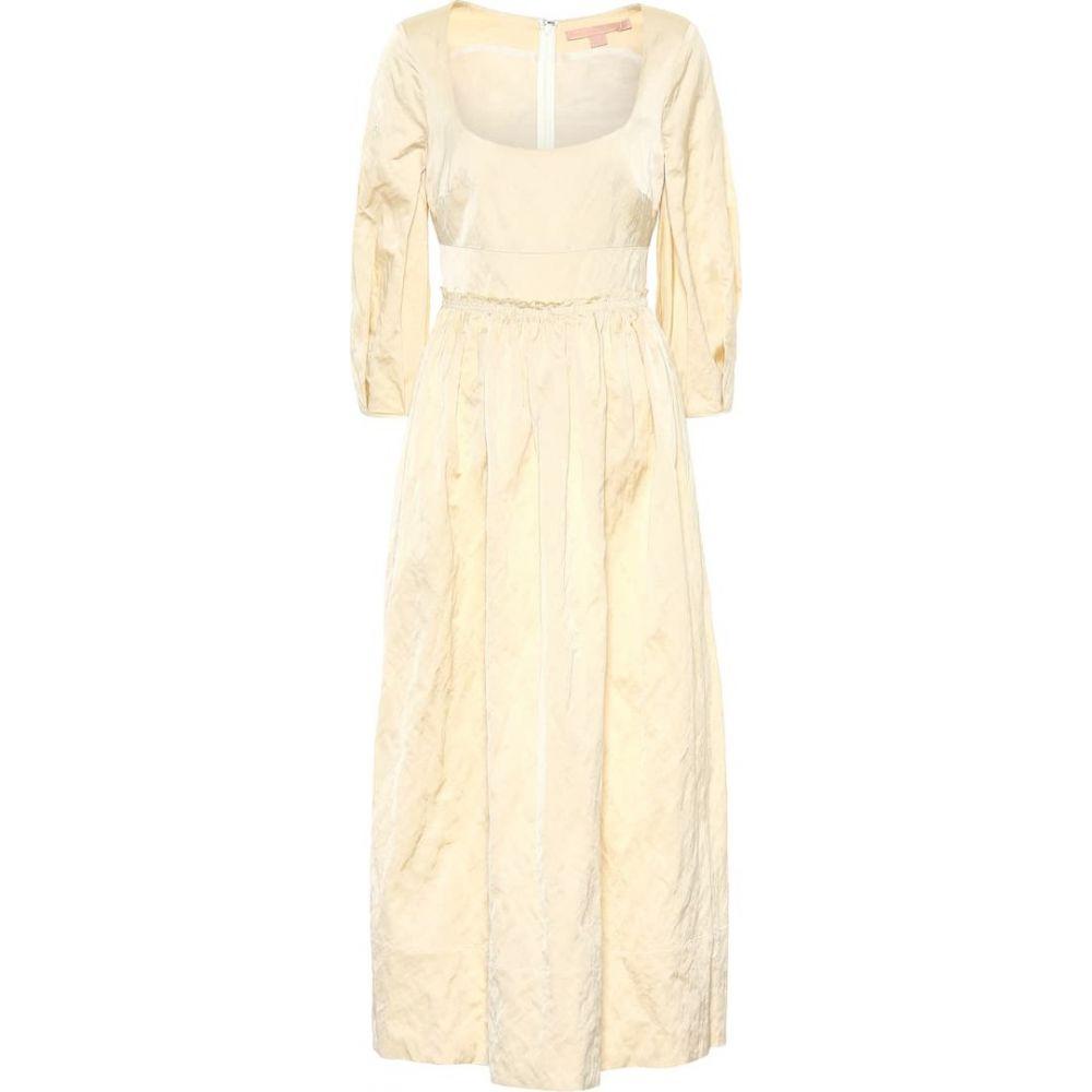 ブロック コレクション Brock Collection レディース ワンピース ミドル丈 ワンピース・ドレス【ondina satin midi dress】Open White
