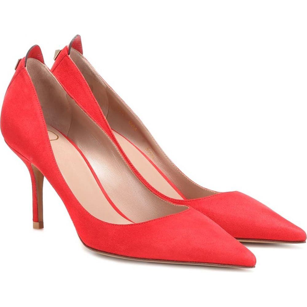 ヴァレンティノ Valentino レディース パンプス シューズ・靴【garavani embellished suede pumps】rouge pur/rouge pur