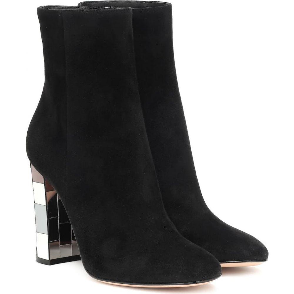 ジャンヴィト ロッシ Gianvito Rossi レディース ブーツ ショートブーツ シューズ・靴【disco heel 100 suede ankle boots】Black