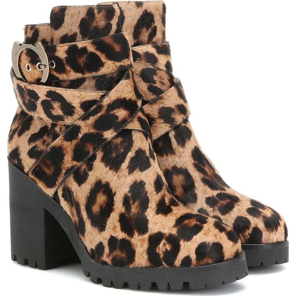 シャーロット オリンピア Charlotte Olympia レディース ブーツ ショートブーツ シューズ・靴【leopard-print calf hair ankle boots】Leopard