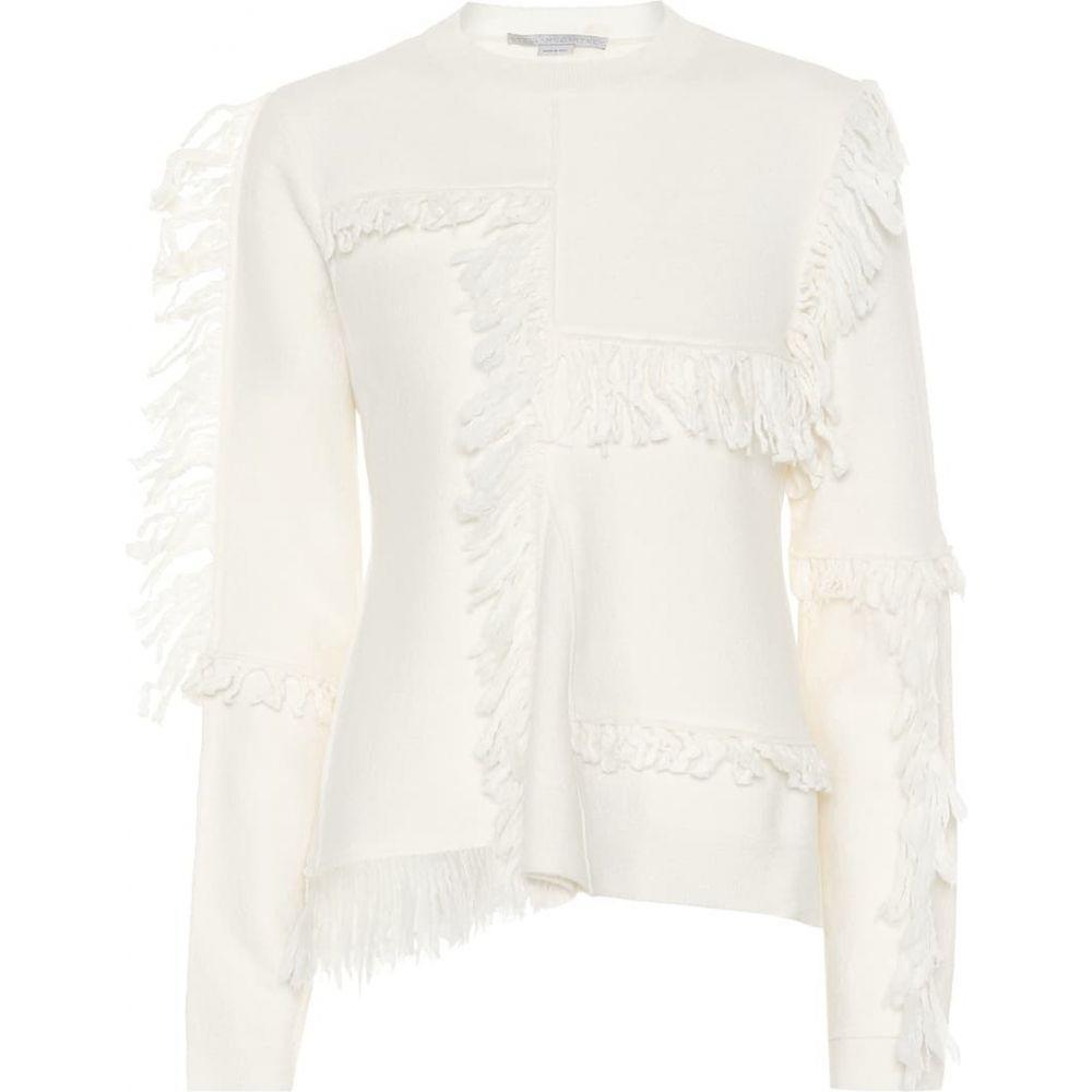 ステラ マッカートニー Stella McCartney レディース ニット・セーター トップス【fringed wool sweater】Ivory