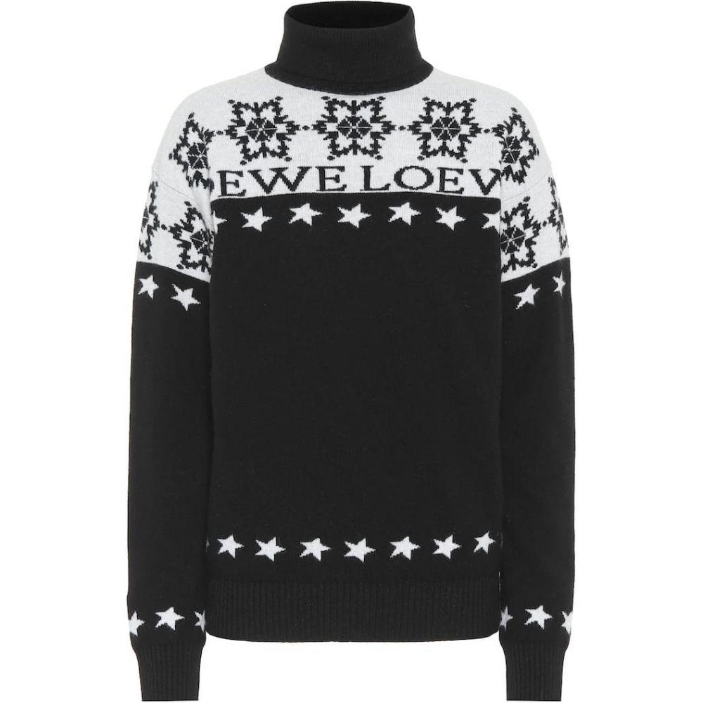 ロエベ Loewe レディース ニット・セーター トップス【snowflake wool turtleneck sweater】white/black