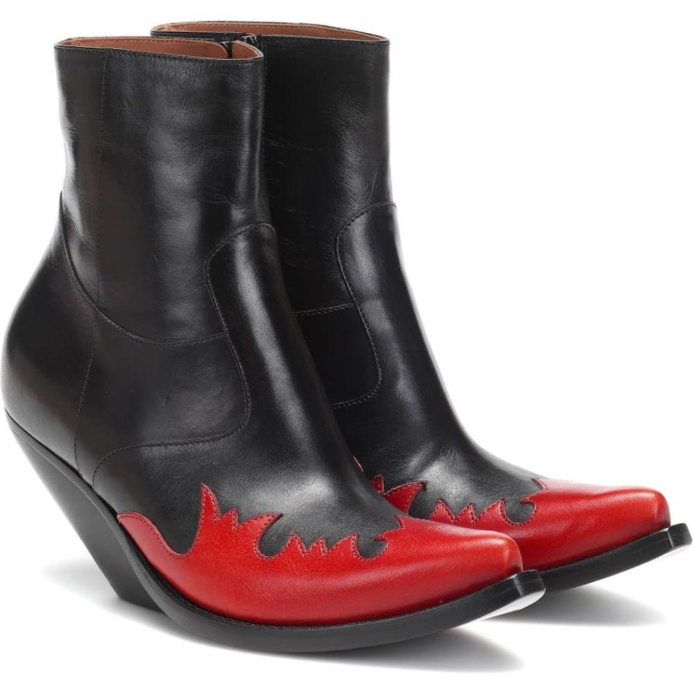 ヴェトモン Vetements レディース ブーツ ショートブーツ シューズ・靴【leather ankle boots】Black/Red