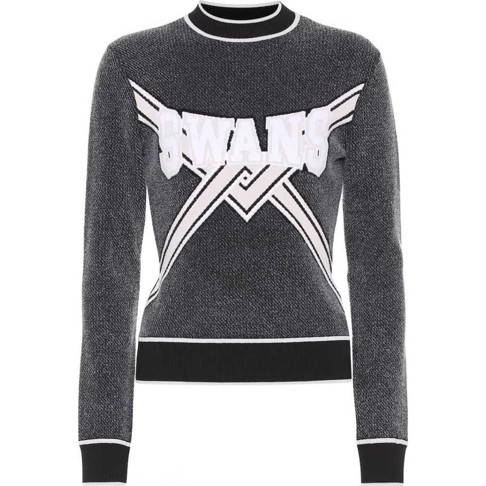 オフホワイト Off-White レディース ニット・セーター トップス【embroidered sweater】Black
