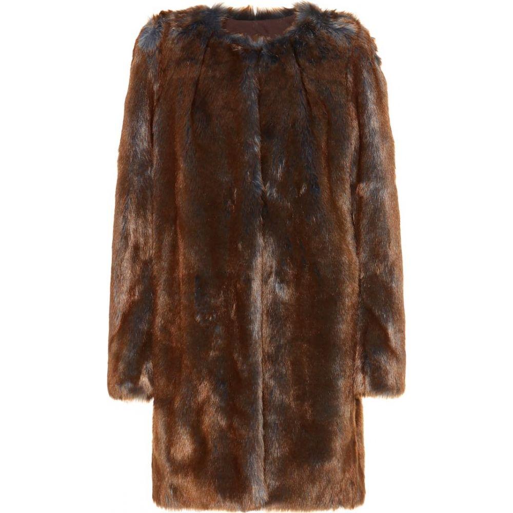 ドリス ヴァン ノッテン Dries Van Noten レディース コート ファーコート アウター【faux fur coat】brown