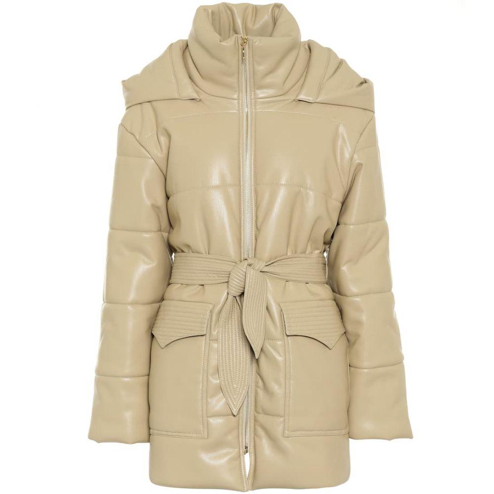 ナヌシュカ Nanushka レディース レザージャケット アウター【lenox faux leather coat】Wax Yellow