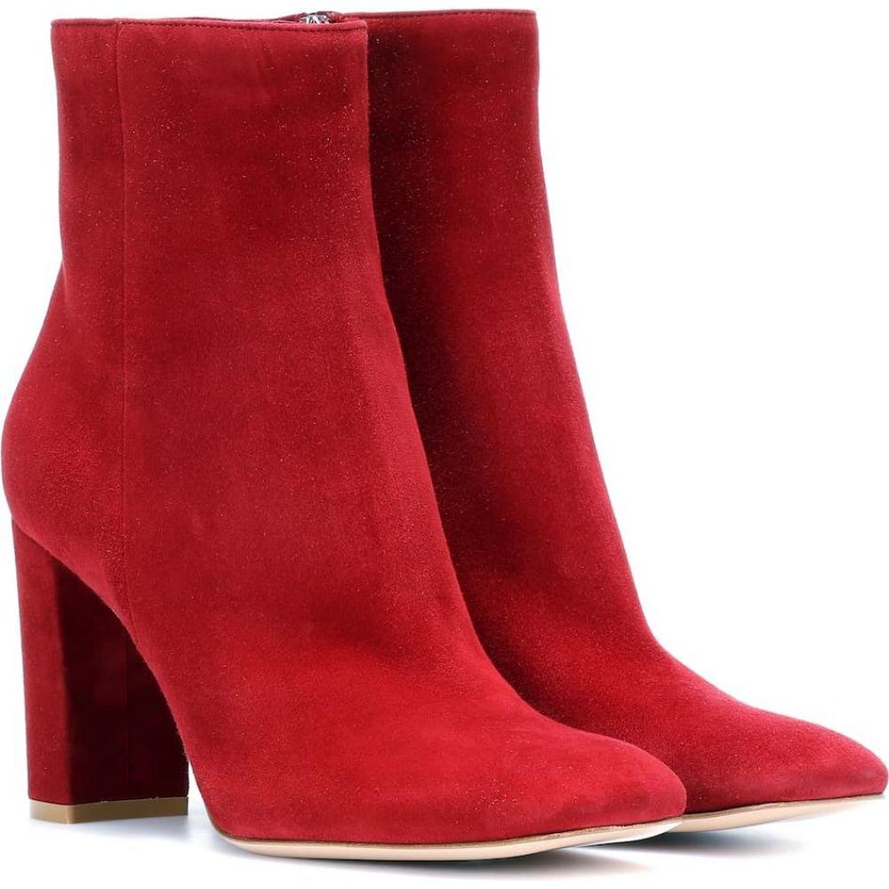 ジャンヴィト ロッシ Gianvito Rossi レディース ブーツ ショートブーツ シューズ・靴【trish suede ankle boots】Syrah
