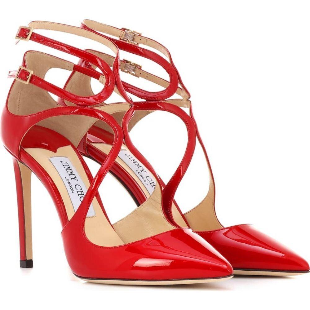 ジミー チュウ Jimmy Choo レディース パンプス シューズ・靴【lancer 100 patent leather pumps】Red