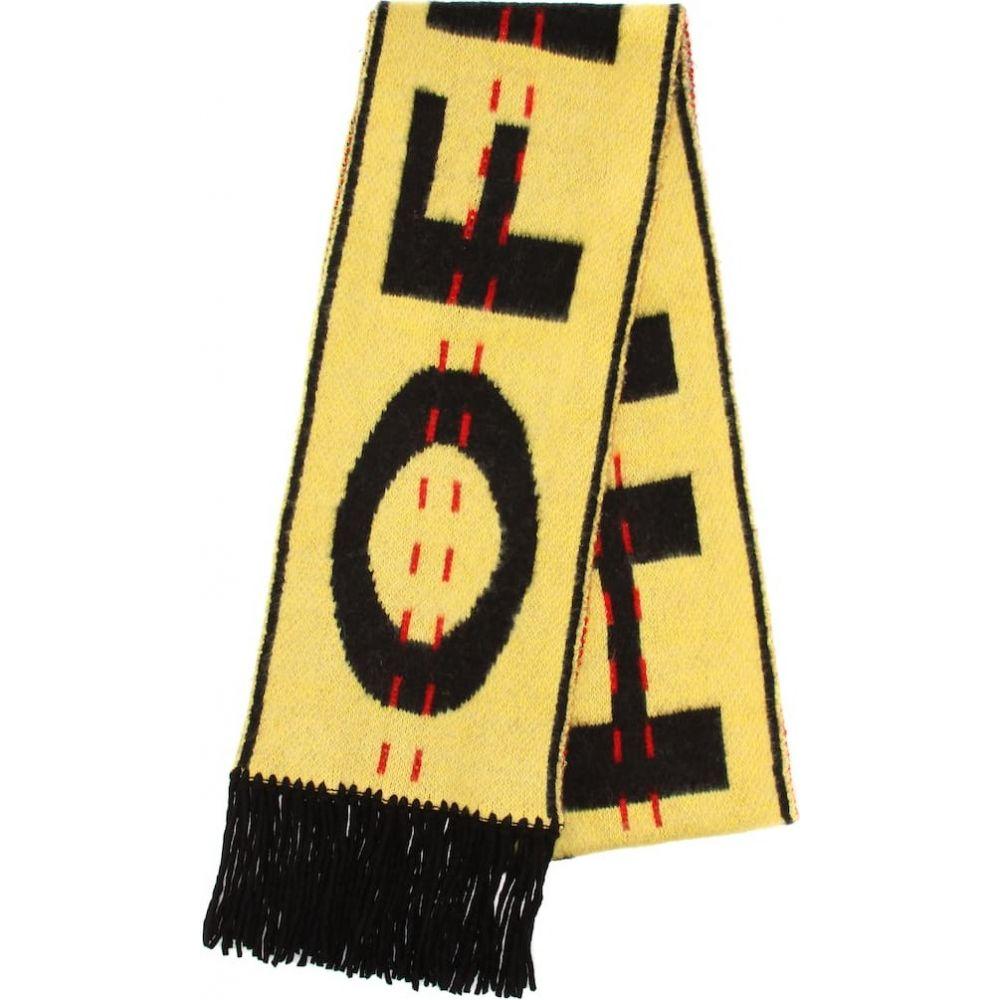 オフホワイト Off-White レディース マフラー・スカーフ・ストール 【industrial wool-blend scarf】Yellow Bla