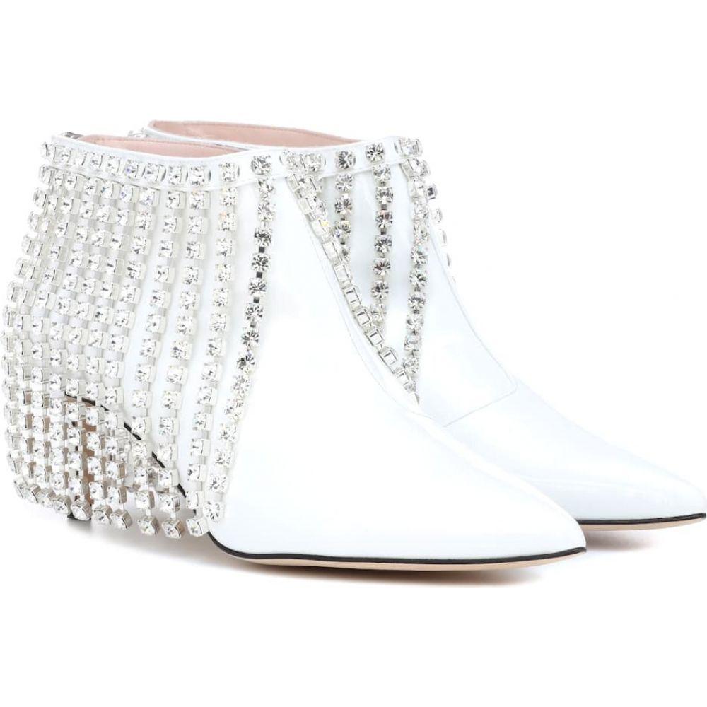 クリストファー ケイン Christopher Kane レディース ブーツ ショートブーツ シューズ・靴【crystal patent leather ankle boots】White