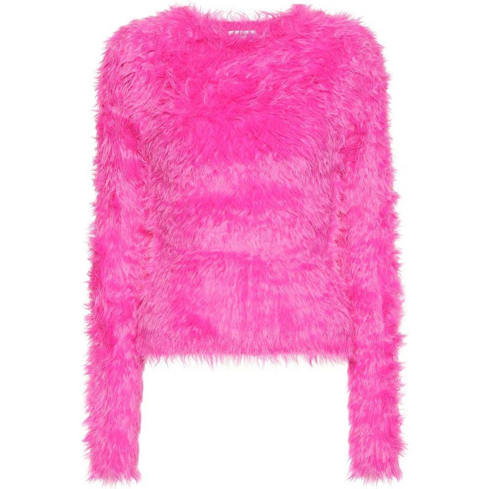 バレンシアガ Balenciaga レディース ニット・セーター トップス【faux fur sweater】rose