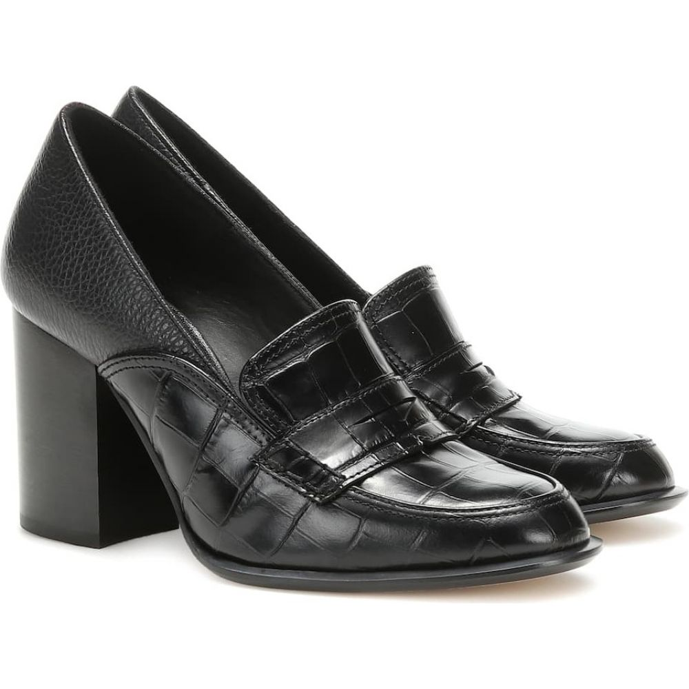 ロエベ Loewe レディース パンプス シューズ・靴【leather loafer pumps】Black/Black