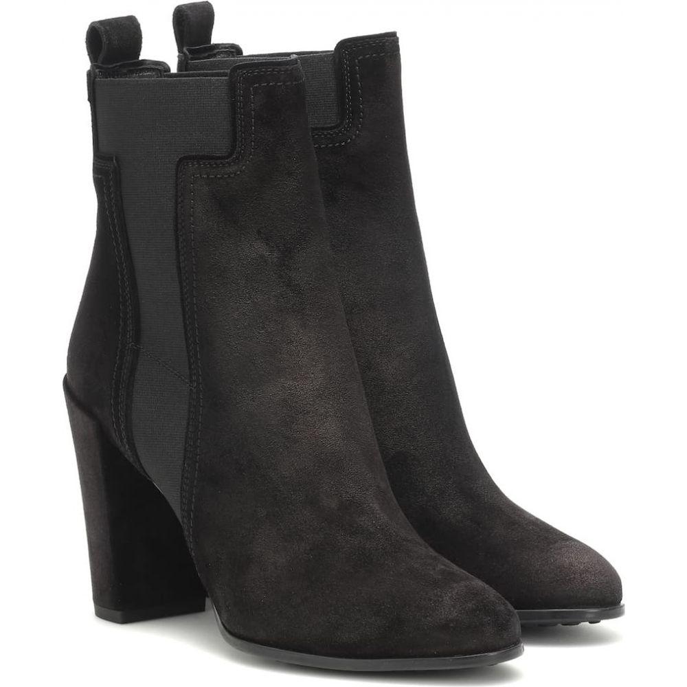 トッズ Tod's レディース ブーツ ショートブーツ シューズ・靴【suede ankle boots】Nero