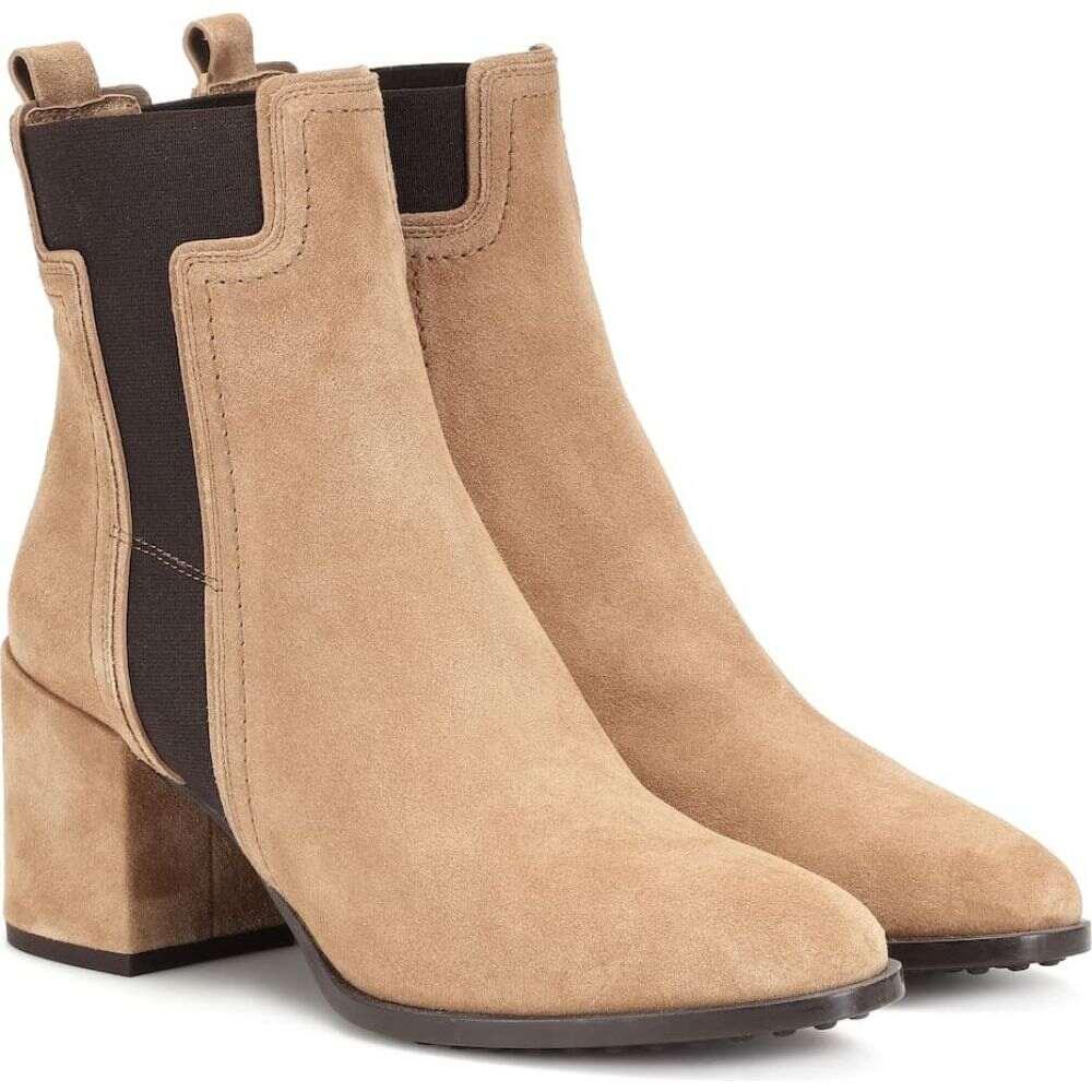 トッズ Tod's レディース ブーツ ショートブーツ シューズ・靴【suede ankle boots】Tabacco Chiaro
