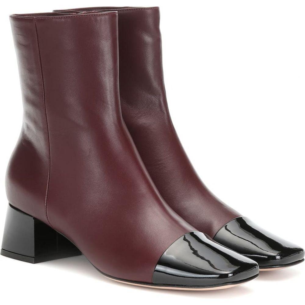 ジャンヴィト ロッシ Gianvito Rossi レディース ブーツ ショートブーツ シューズ・靴【logan 45 leather ankle boots】black royale