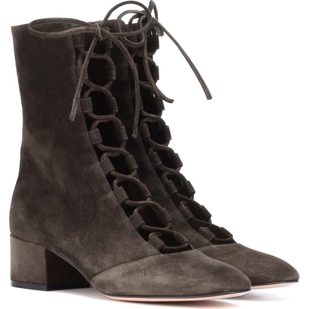 ジャンヴィト ロッシ Gianvito Rossi レディース ブーツ ショートブーツ シューズ・靴【delia suede ankle boots】Dark Olive