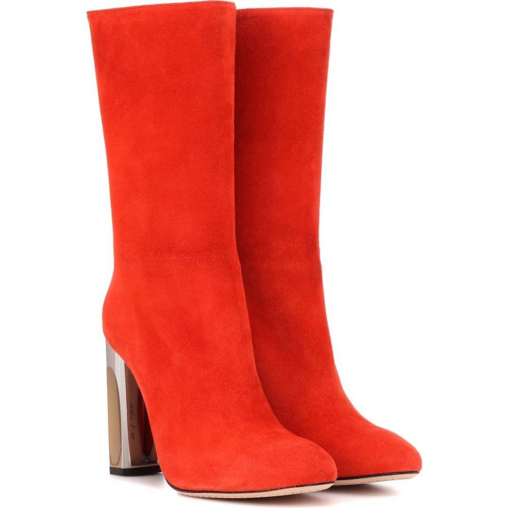 アレキサンダー マックイーン Alexander McQueen レディース ブーツ シューズ・靴【mirror-heel suede boots】Soft Orange