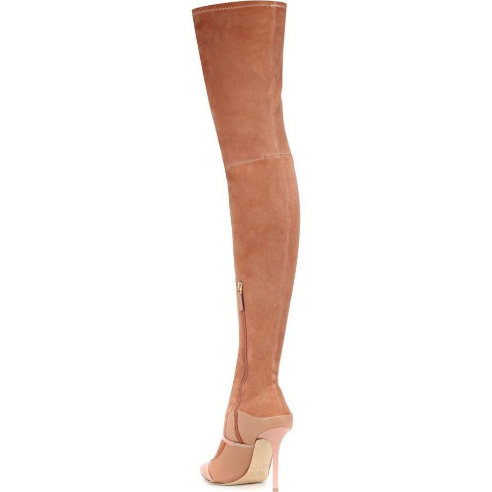 マローンスリアーズ Malone Souliers レディース ブーツ シューズ・靴 madison over the knee suede boots Nude TandxrCBoeW