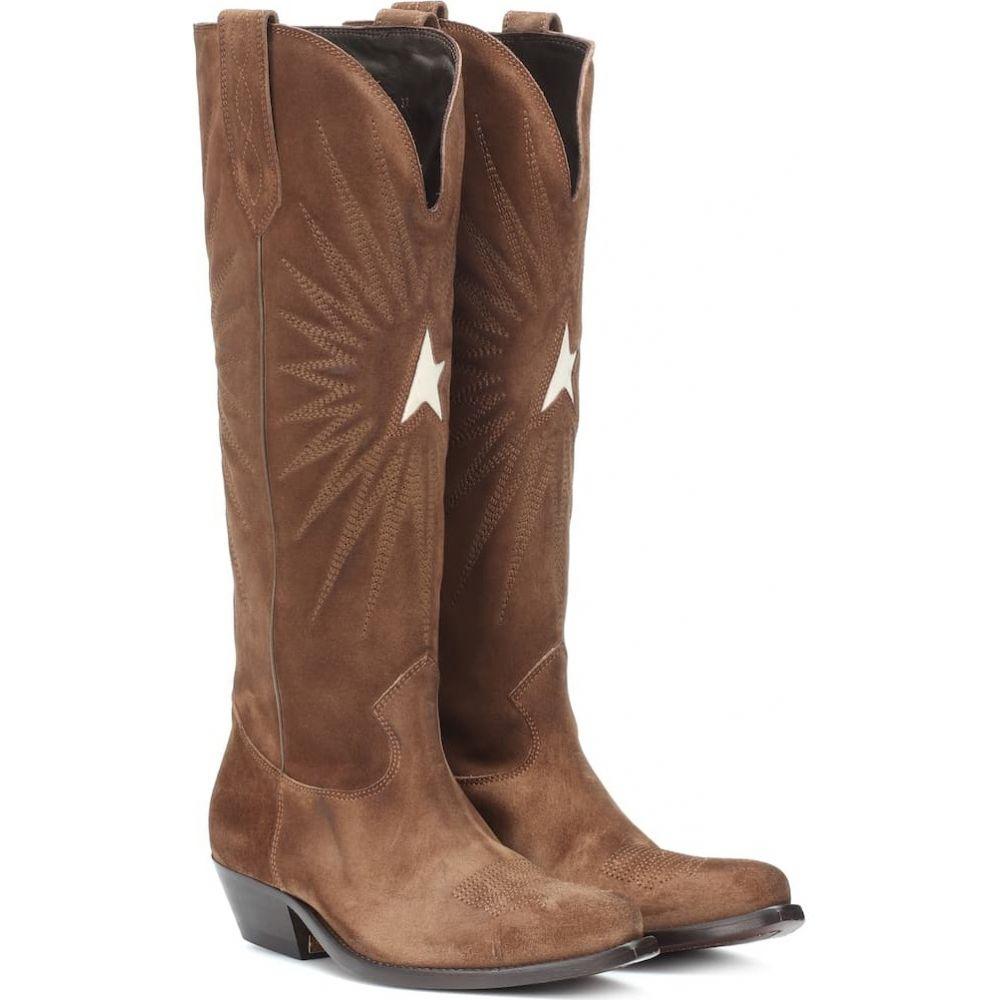 ゴールデン グース Golden Goose レディース ブーツ カウボーイブーツ シューズ・靴【wish star suede cowboy boots】Olive Green Suede