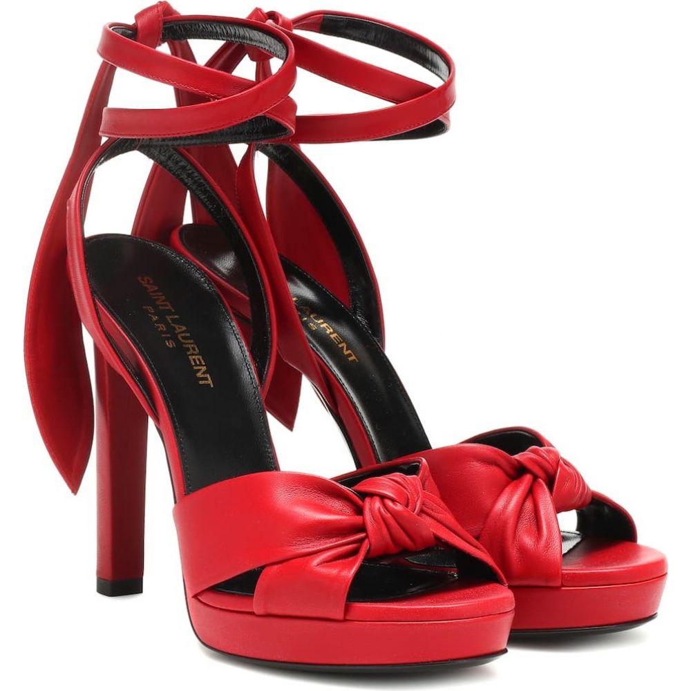 レディース サンダル・ミュール Saint leather 105 sandals】rouge Laurent サンローラン シューズ・靴【hall eros イヴ