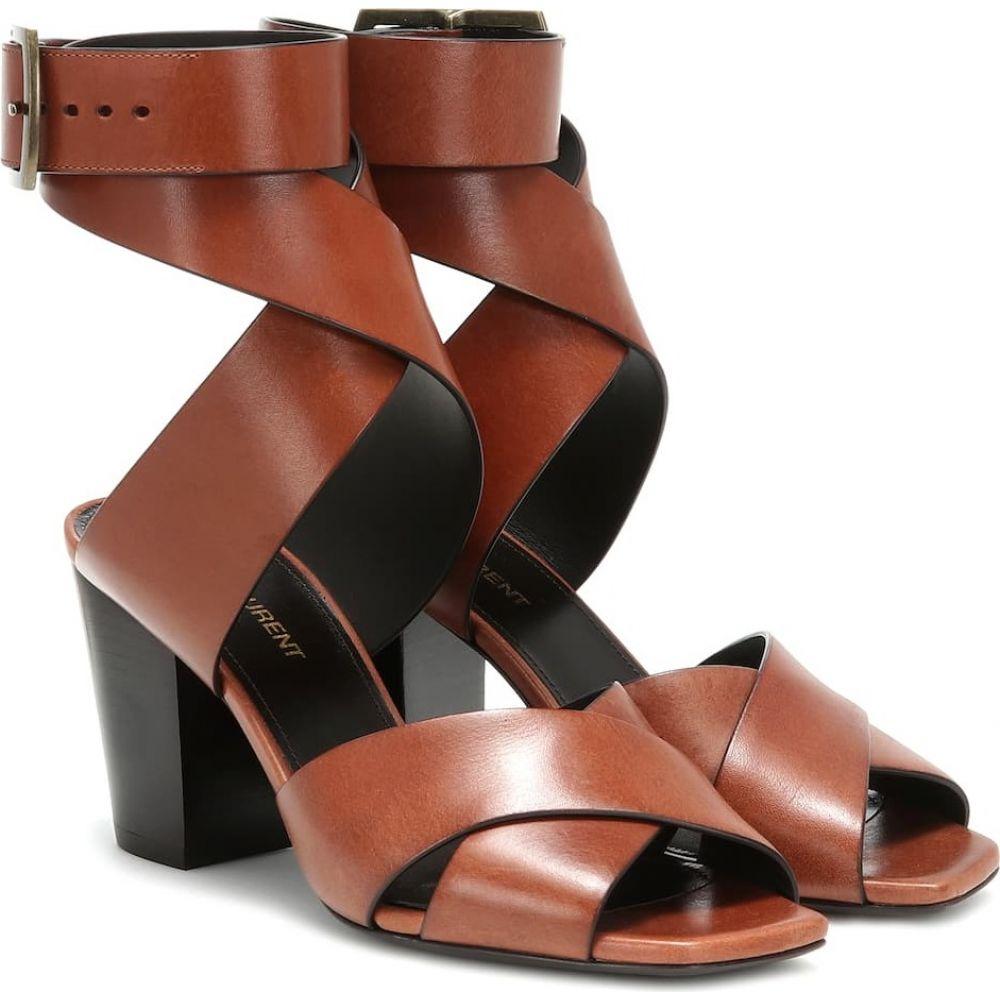 イヴ サンローラン Saint Laurent レディース サンダル・ミュール シューズ・靴【oak 75 leather sandals】Bruciato