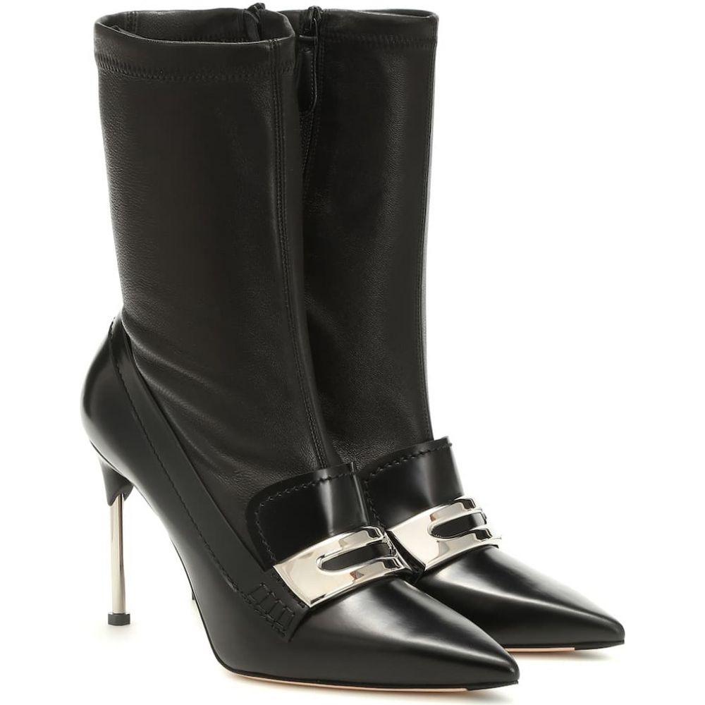 アレキサンダー マックイーン Alexander McQueen レディース ブーツ ショートブーツ シューズ・靴【leather ankle boots】Black/Black/Silver