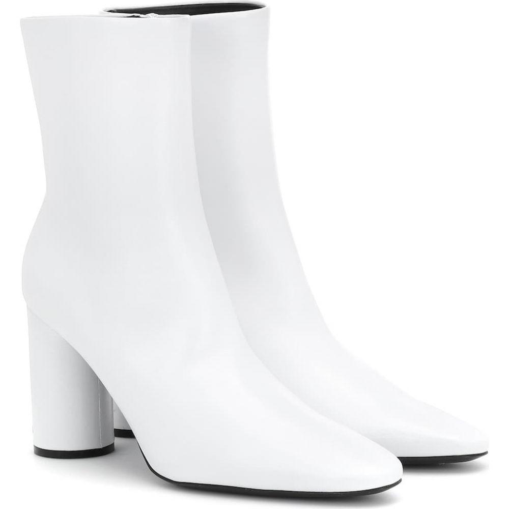 バレンシアガ Balenciaga レディース ブーツ ショートブーツ シューズ・靴【leather ankle boots】White/Black