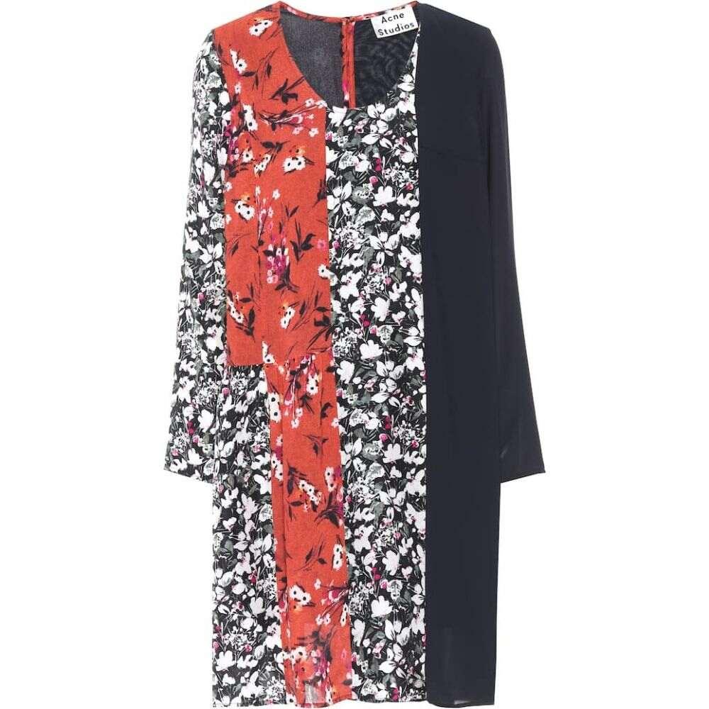 アクネ ストゥディオズ Acne Studios レディース ワンピース ワンピース・ドレス【Jorny floral-printed jersey dress】Off Blue