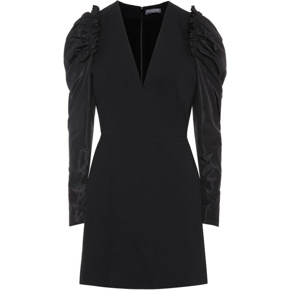 アレキサンダー マックイーン Alexander McQueen レディース ワンピース ワンピース・ドレス【Crepe minidress】Black