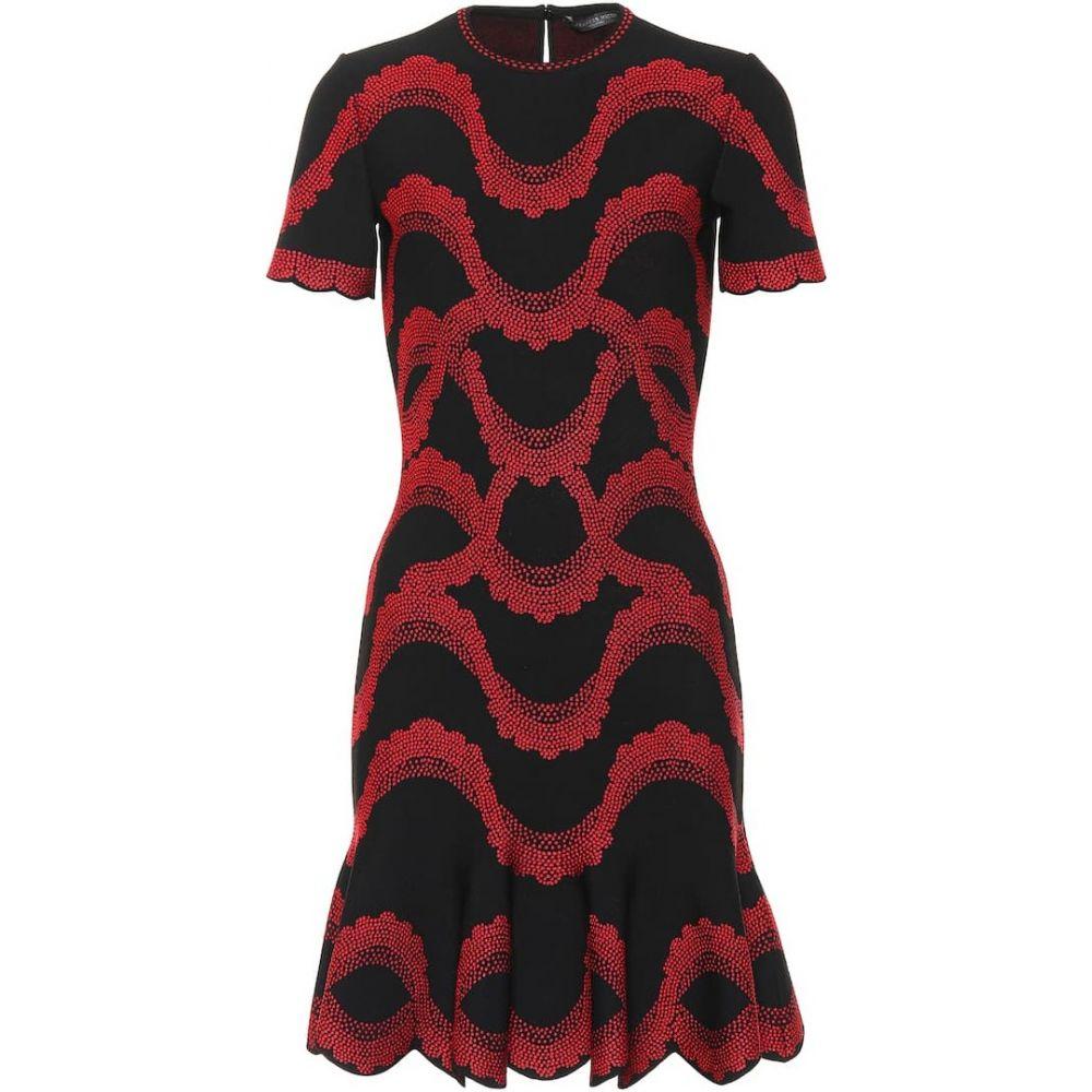 アレキサンダー マックイーン Alexander McQueen レディース ワンピース ワンピース・ドレス【Jacquard knit dress】Black/Red