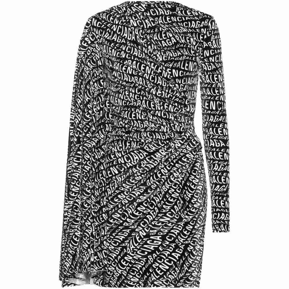 バレンシアガ Balenciaga レディース ワンピース ワンピース・ドレス【Stretch velvet minidress】Black